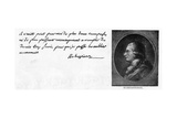 Handwriting and Signature of Robespierre Giclee Print