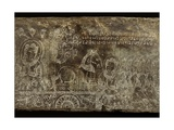 Engraved Stone Panel Depicting the Bhojajania Jataka Tale, from Wat Si Chum, Sukhothai, 14th-15th… Giclee Print