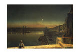 Rouen at Night from the Pont De Pierre, 1878 Giclee Print by John Atkinson Grimshaw
