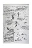 Parachute Drawings Giclee Print by  Leonardo da Vinci