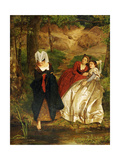 At the Stream, 1864 Giclee Print by Philip Hermogenes Calderon