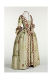 Gown and Petticoat in Ivory or Beige Brocaded Spitalfields Silk, C.1740-60 Giclee Print by Anna Maria Garthwaite