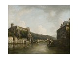 View of the Chateau De Pierre-Encise on the Rhone, Lyon Giclee Print by William Marlow