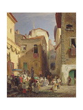 Festival of Our Lady at Gennazzano, Roman Campagna, Italy, 1865 Giclee Print by Oswald Achenbach