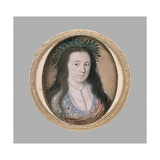 A Lady in Masque Costume. C.1610 Giclee Print by Isaac Oliver
