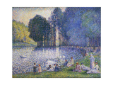 The Lake in the Bois De Boulogne, C.1899 Giclee Print by Henri-Edmond Cross