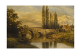 Fittleworth Old Mill and Bridge, on the Rother, Sussex, 1880 Giclee Print by George Cole