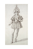 Masquer with Feathers and Plume Giclee Print by Inigo Jones