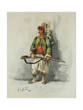 Military Figure Giclee Print by Alfred Brunel De Neuville