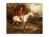 Portrait of Thomas Conolly, Seated on a Dappled Grey Hunter Giclee Print by William Osborne