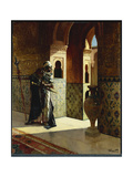 The Moorish Guard, the Alhambra Giclée-Druck von Rudolphe Ernst