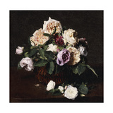 Vase of Flowers, 1876 Giclee Print by Ignace Henri Jean Fantin-Latour