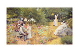 Calling the Bees Giclee Print by Edward Killingworth Johnson