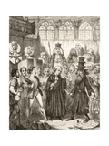 Illustration after George Cruikshank for the Poem 'The Merchant of Venice', a Legend of Italy,… Giclee Print