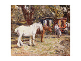 The Gypsy Encampment Giclee Print by Harry Fidler