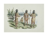 Koukok or Kat Indian (Gwich'In), West of Mackenzie River, 1854 Giclee Print by Edward Adams