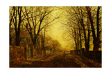Nocturne in Gold, 1872 Giclee Print by John Atkinson Grimshaw
