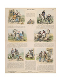 Hans in Luck (After the Brothers Grimm) Broadsheet Published by Gustav Weise, Stuttgart, 1860 Giclee Print by Oskar Pletsch