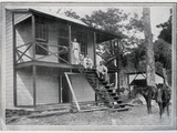Robert Louis Stevenson and His Wife, Fanny, Om the Verandah of their House at Vailima, Samoa, C.… Photographic Print by John of Apia Davis