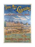 Cabourg Poster Reproduction procédé giclée par Emile Levy