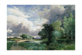 Landscape with a Bridge Giclee Print by Thomas Moran