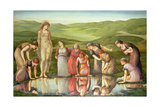 The Mirror of Venus Giclee Print by Sir Edward Coley Burne-Jones
