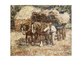 The Hay Wagon Giclee Print by Harry Fidler