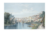 Knaresborough Viaduct Giclee Print by John Cooke Bourne