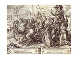 Pride, Plate 3 from 'The Vicissitude of Human Things', 1564 Giclee Print by Maarten van Heemskerck
