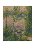Woman in the Garden Giclee Print by Hippolyte Petitjean
