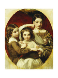 Portrait of the Russell Sisters, 1858 Giclee Print by James Sant