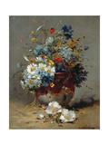 Daisies and Cornflowers Giclee Print by Eugene Henri Cauchois