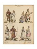 Examples of Polish Folk Costumes, Published by K.S. Wolski, Krakow, 1888 Giclee Print