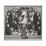 Lydgate Presenting His Book to King Henry V, from 'A Short History of the English People' by J.… Giclee Print