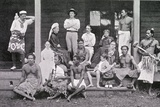 Robert Louis Stevenson with His Household at Vailima, Samoa, 1892 Photographic Print by John Davis