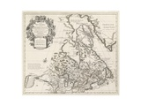 Map of Canada or New France, Published by Johannes Covens and Cornelius Mortier, C.1730 Giclee Print by Guillaume Delisle