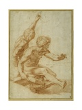 Nude Studies for St. Andrew and Another Apostle in 'The Transfiguration' Reproduction procédé giclée par  Raphael