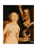 Eve, the Serpent and Death (Detail) Giclee Print by Hans Baldung Grien