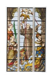 King Francois of France and His Wife Eleonore Praying, from a 16th Century Stained Glass Window… Giclee Print