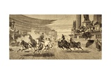 Chariot Race at Roman Games, after a Painting by Alejandro Wagner, from 'Album Artistico',… Giclee Print by  Spanish School