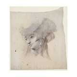 Portrait Study of a Woman, Probably Mrs Fuseli Giclee Print by Henry Fuseli