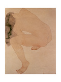 Seated Nude Bending over Giclée-tryk af Auguste Rodin