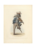 Billy Waters, Illustration from 'Costume of the Lower Orders of London', 1819 Giclee Print by Thomas Busby