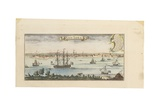 View of New York, C.1740 Giclee Print by Johannes & Mortier, Cornelis Covens