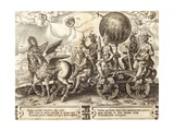 The World, Plate 1 from 'The Vicissitude of Human Things', 1564 Giclee Print by Maarten van Heemskerck
