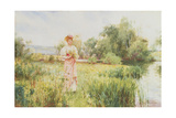 By the River, 1896 Giclee Print by Alfred, Jr. Glendening