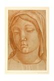 Head of the Virgin, with the Fingers of a Child's Hand on Her Right Shoulder Giclee Print by Cosimo Tura