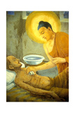 Buddha Tending a Man with Smallpox, from a Buddhist Temple Giclee Print