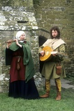 Medieval Musicians, Part of a Historical Re-Enactment Photographic Print