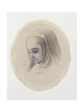 Head Study for Convent Thoughts, 1851 Giclee Print by Charles Alston Collins